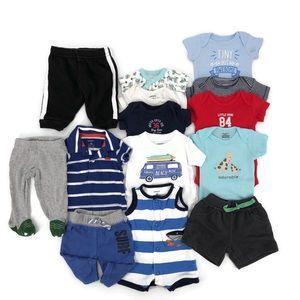 Newborn Baby Boy Summer Lot EUC - 14 Items